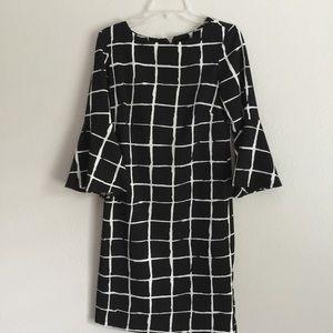 New Liz Claiborne Black/White Giraffe Print Dress